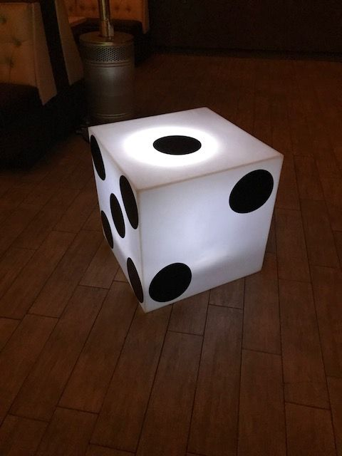 Lit Up  Dice for Casino Party